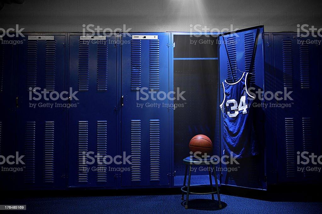 Basketball Locker Room stock photo