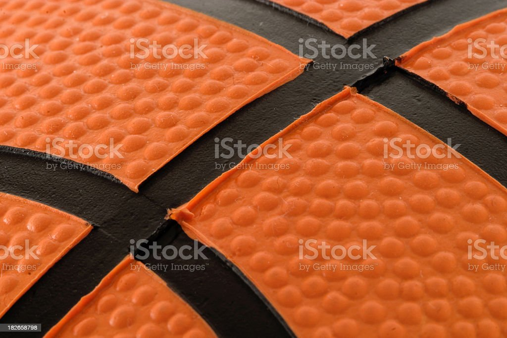 Basketball macro royalty-free stock photo