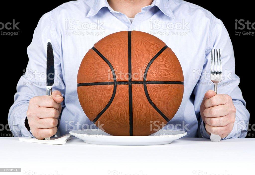 Basketball Main Course stock photo