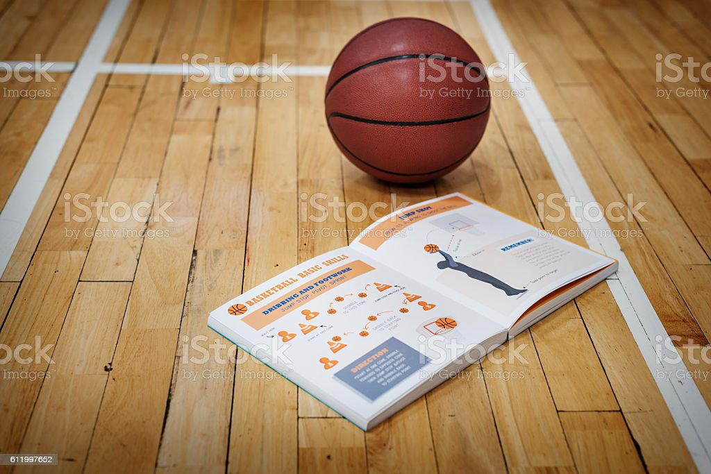 Basketball Manual Learn Instruction Game Concept stock photo