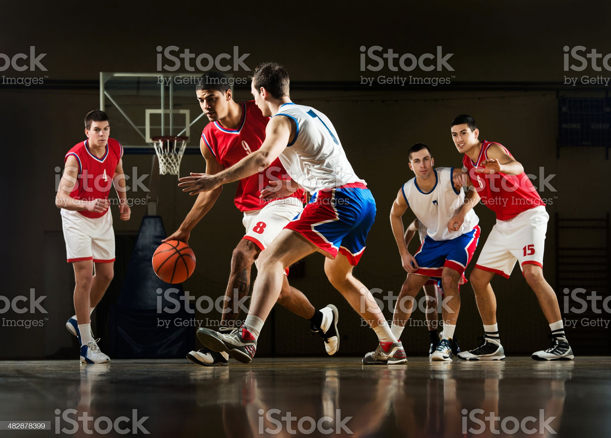 Basketball match. royalty-free stock photo