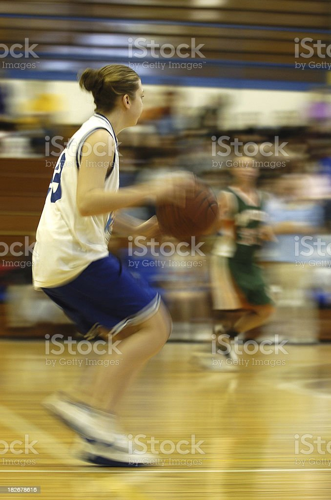 Basketball Motion royalty-free stock photo