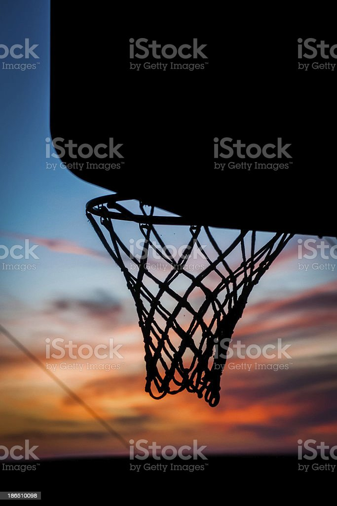 Basketball Net Silloette royalty-free stock photo