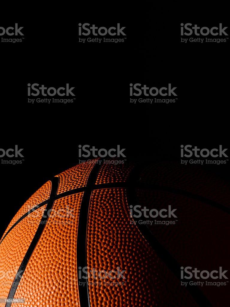 basketball on black royalty-free stock photo