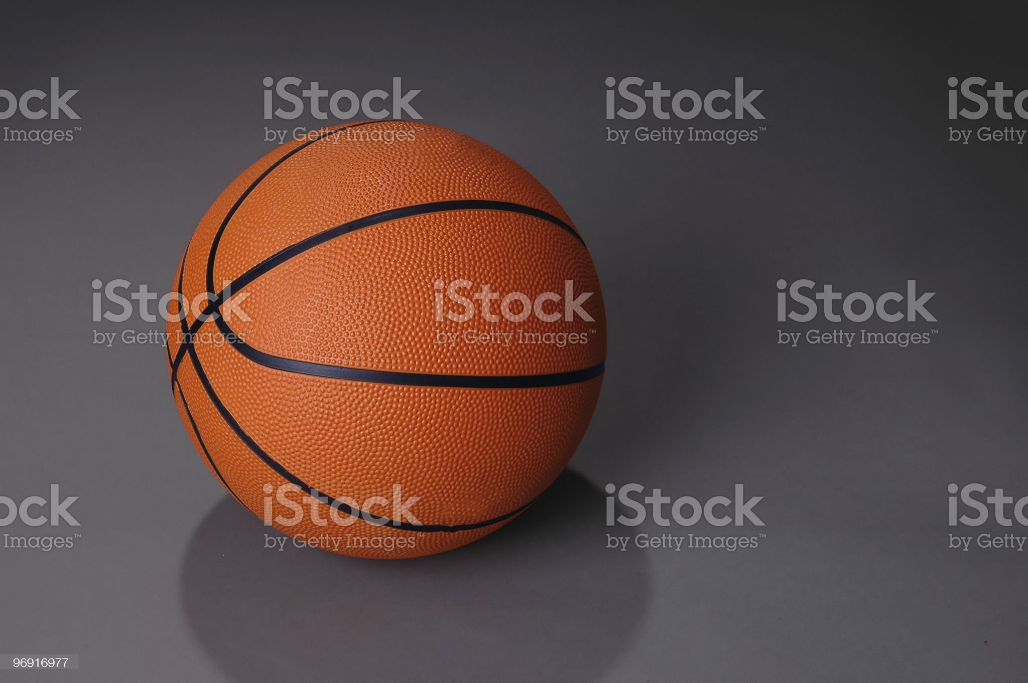 Basketball on dark background royalty-free stock photo