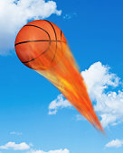 Basketball on Fire.