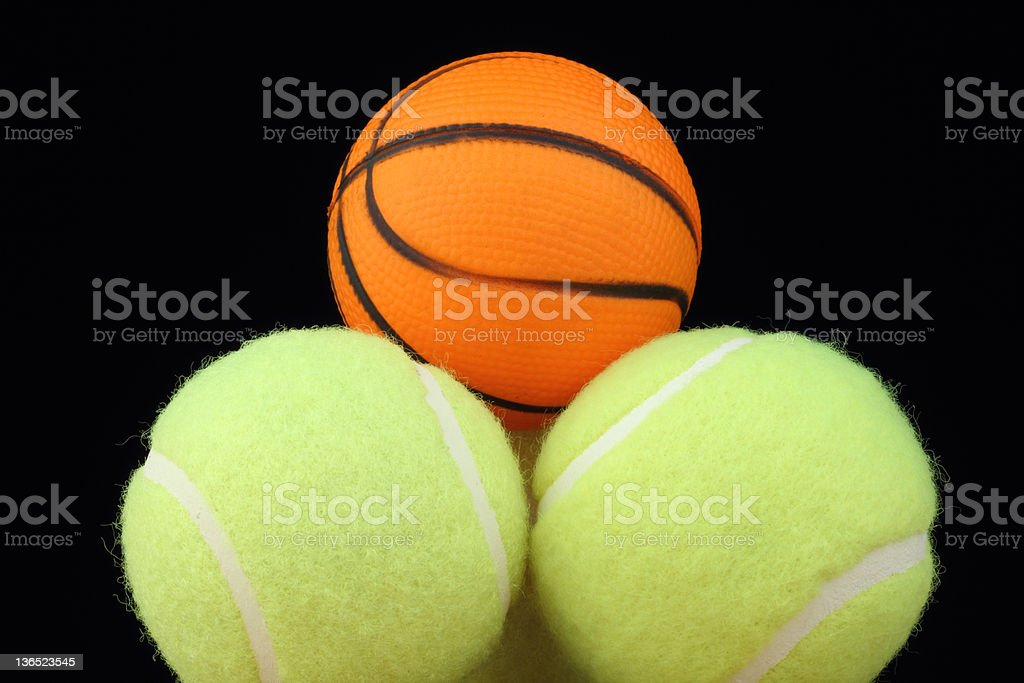 basketball on tenis balls royalty-free stock photo