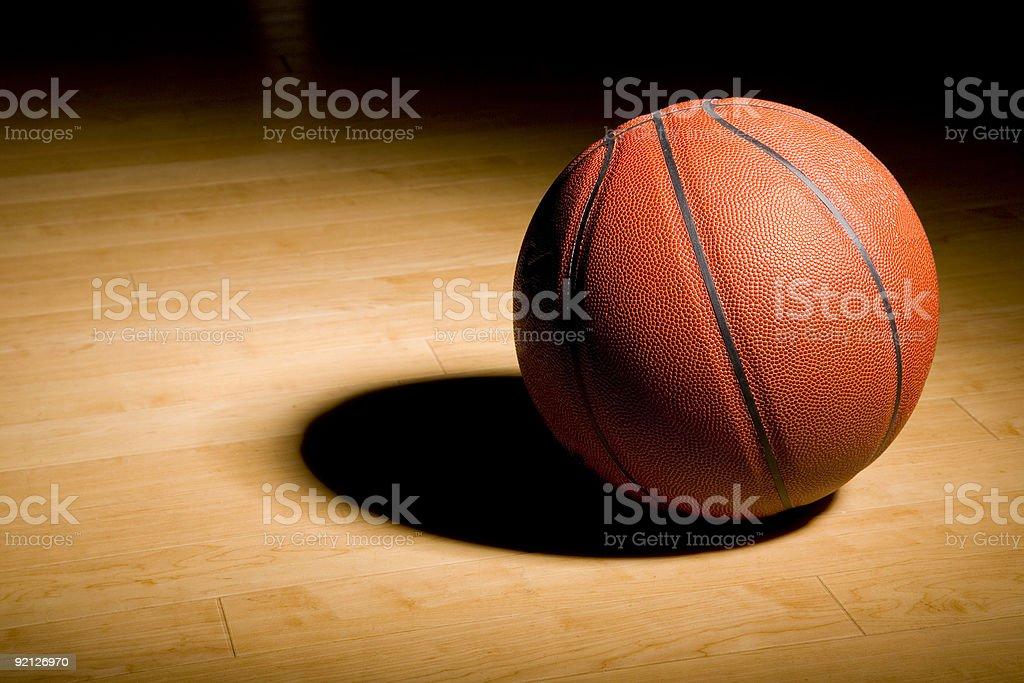 Basketball on the Hardwood stock photo