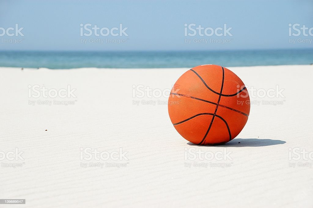 Basketball on vacation... stock photo