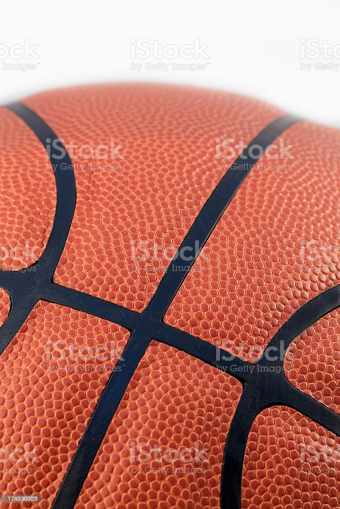 Basketball On White Background royalty-free stock photo