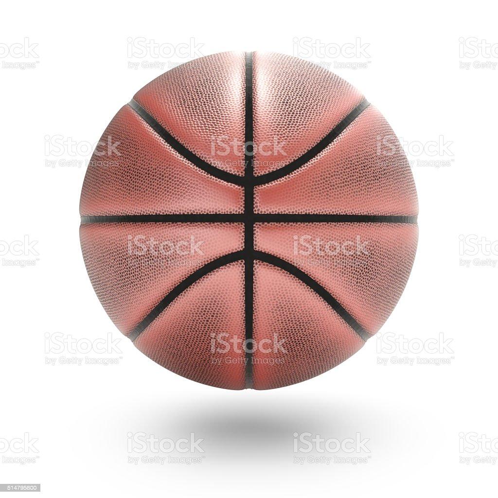 バスケットボールに白の背景クリッピングパスで ロイヤリティフリーストックフォト