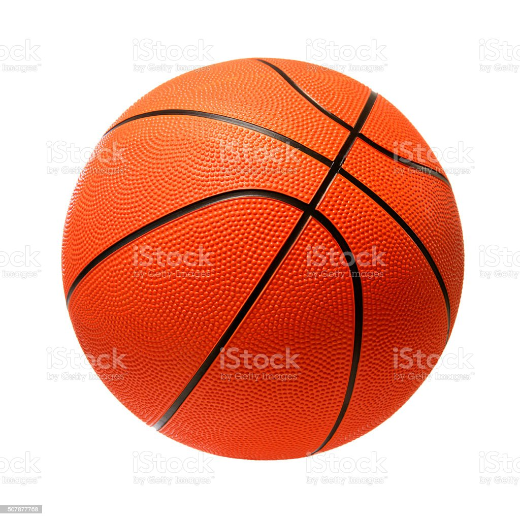 Basketball on white stock photo
