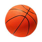 Basketball on white