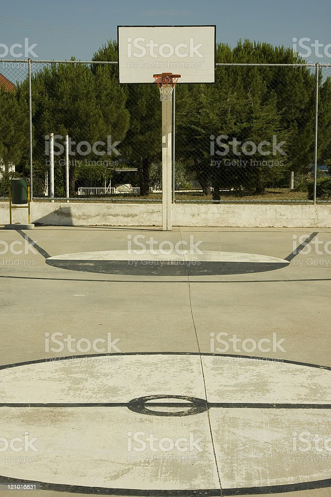 Basketball pitch royalty-free stock photo