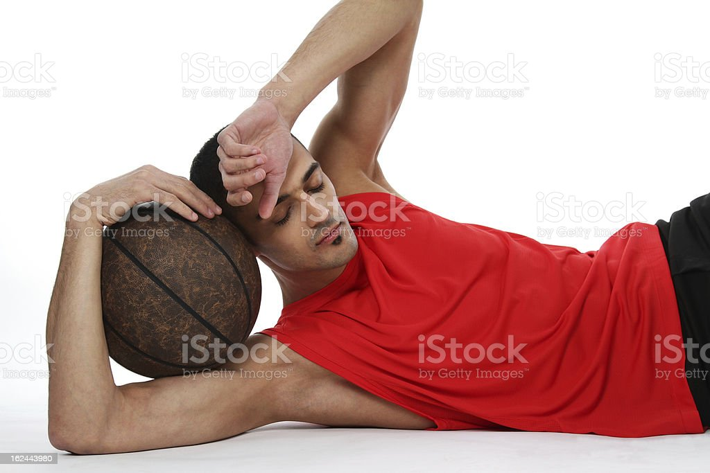 Basketball player after workout royalty-free stock photo