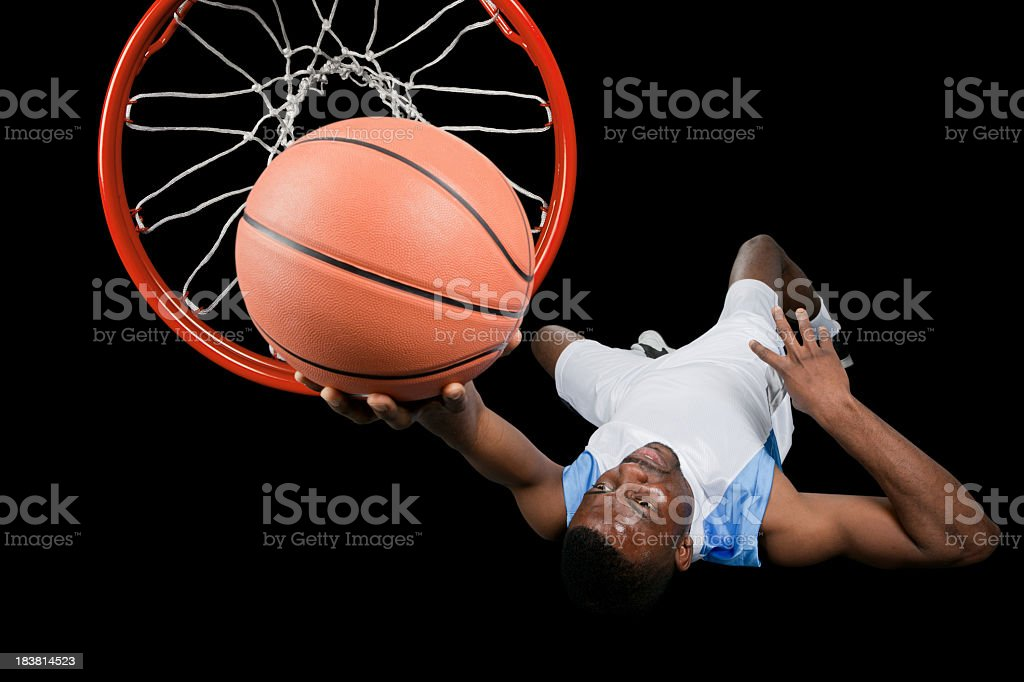 Basketball player from above royalty-free stock photo
