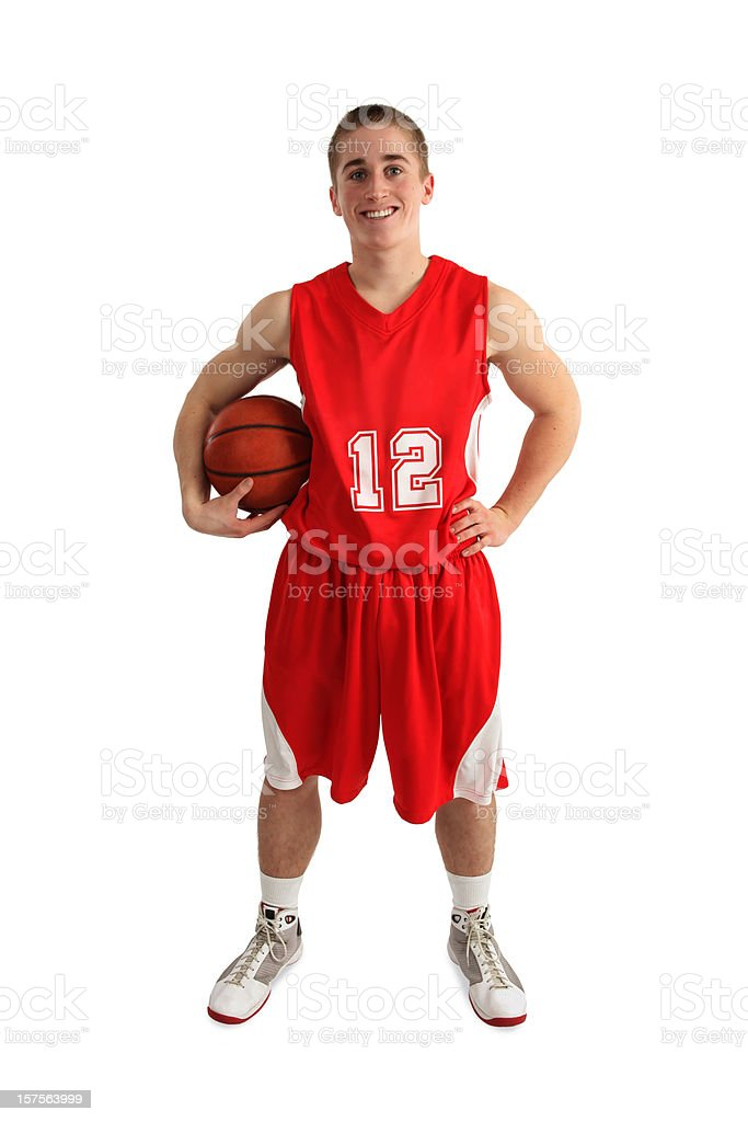 Basketball Player Isolated on White royalty-free stock photo