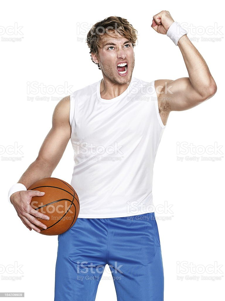 Basketball player isolated royalty-free stock photo