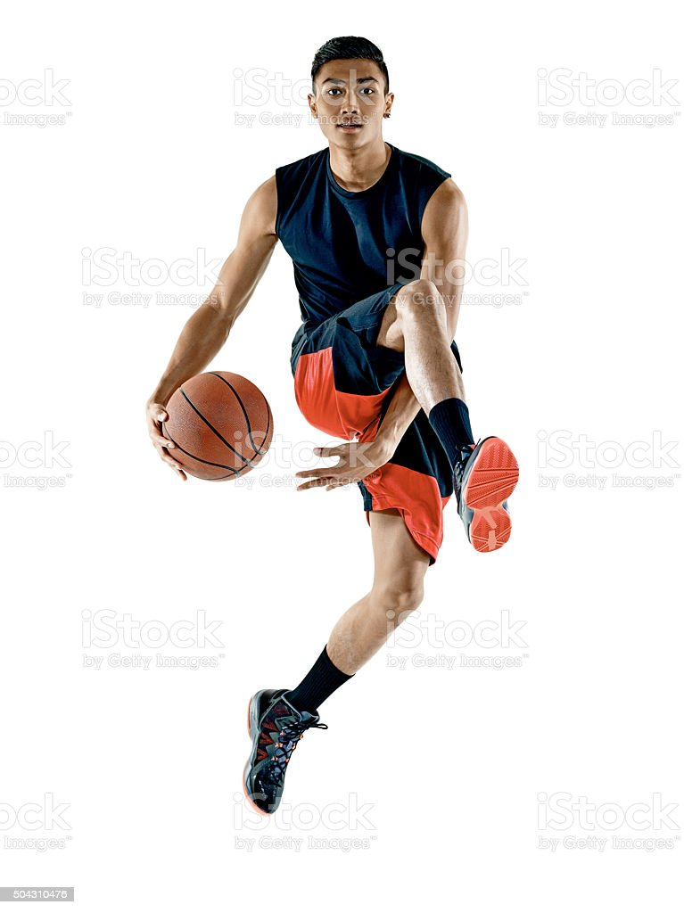 basketball player  man Isolated stock photo