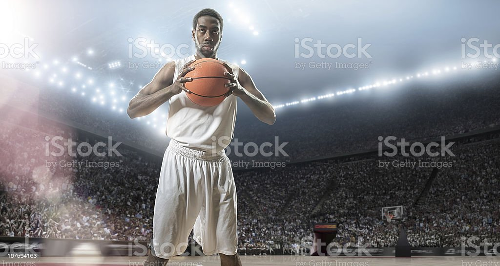 Basketball Player Means Business royalty-free stock photo