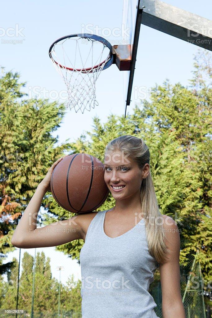 Basketball player royalty-free stock photo