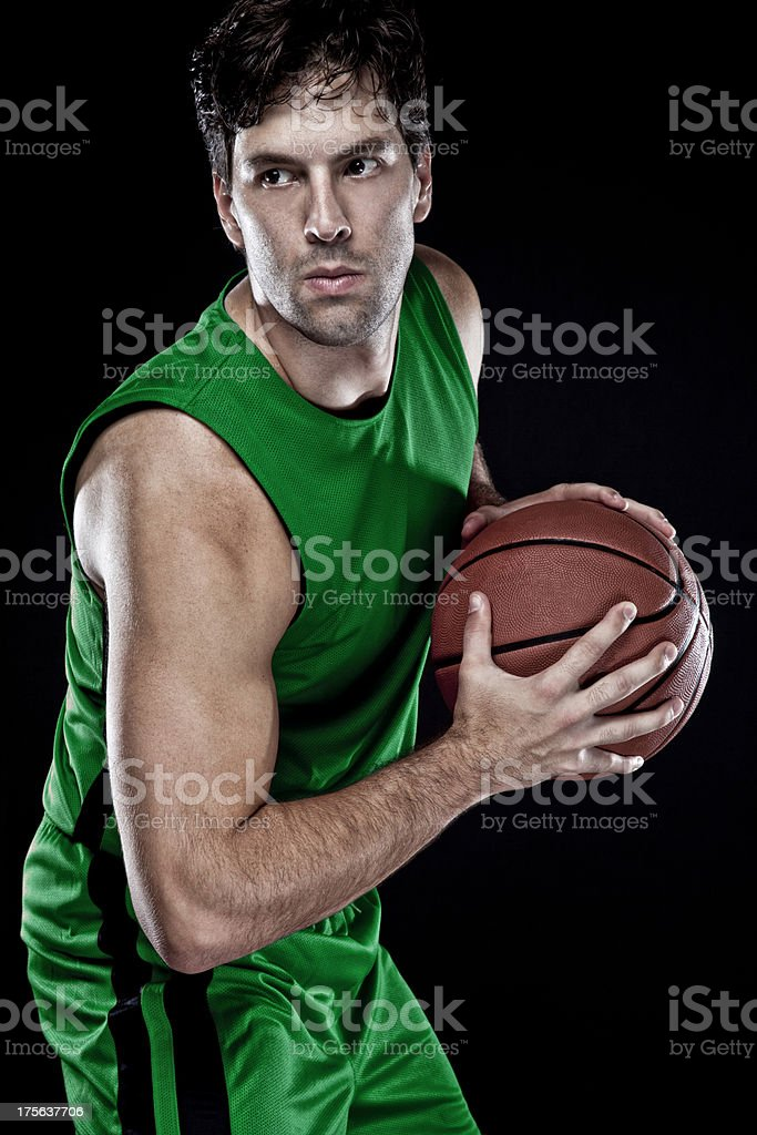 Basketball player royalty-free stock photo