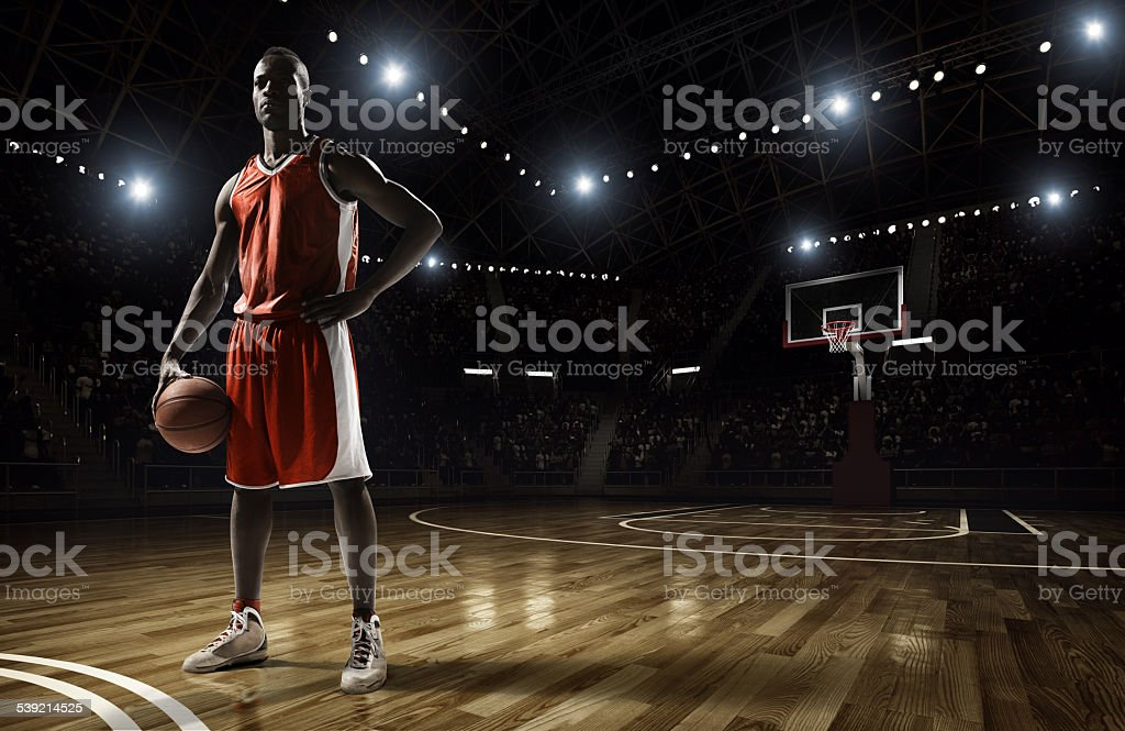 Basketball player stock photo