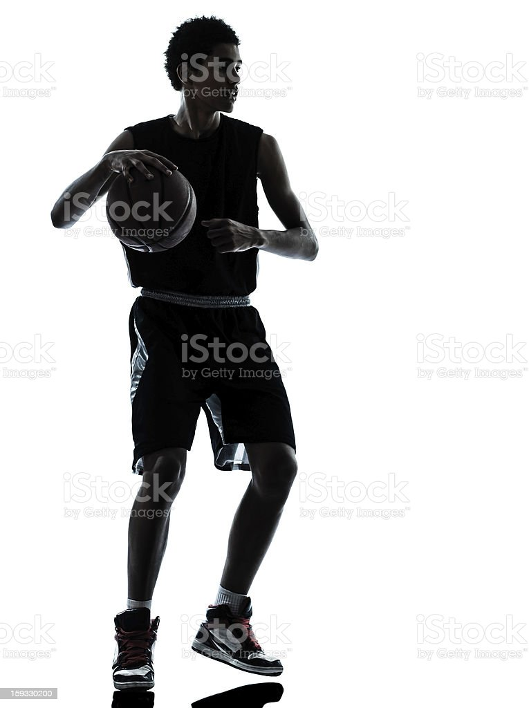 basketball player silhouette royalty-free stock photo