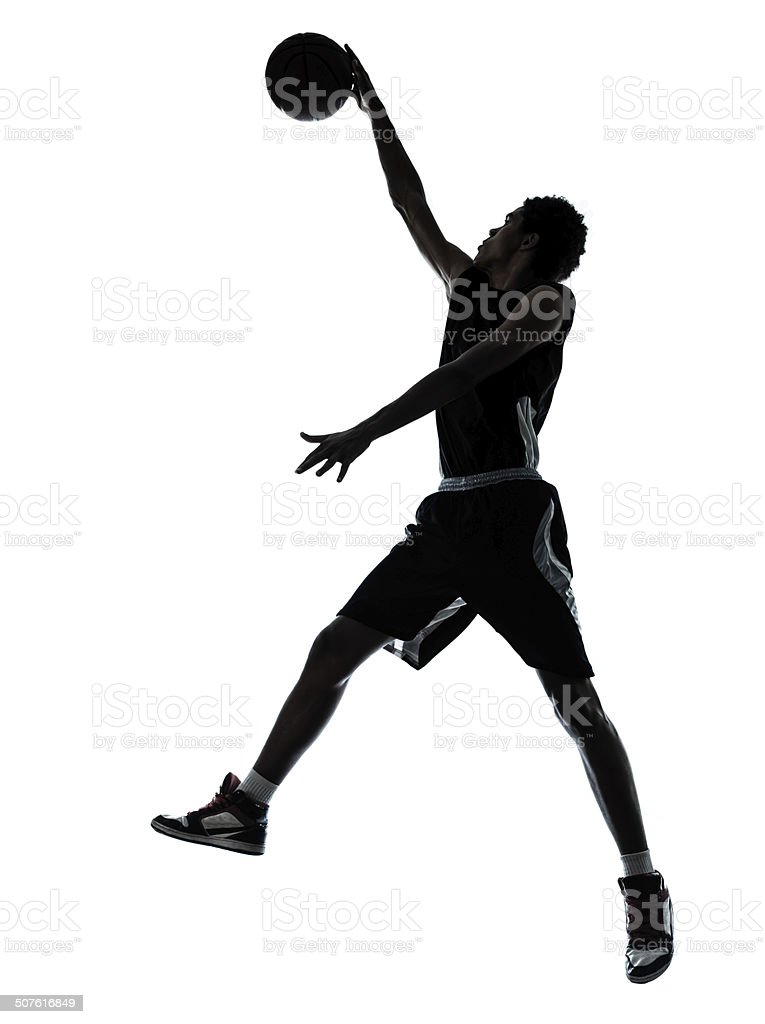 basketball player silhouette stock photo