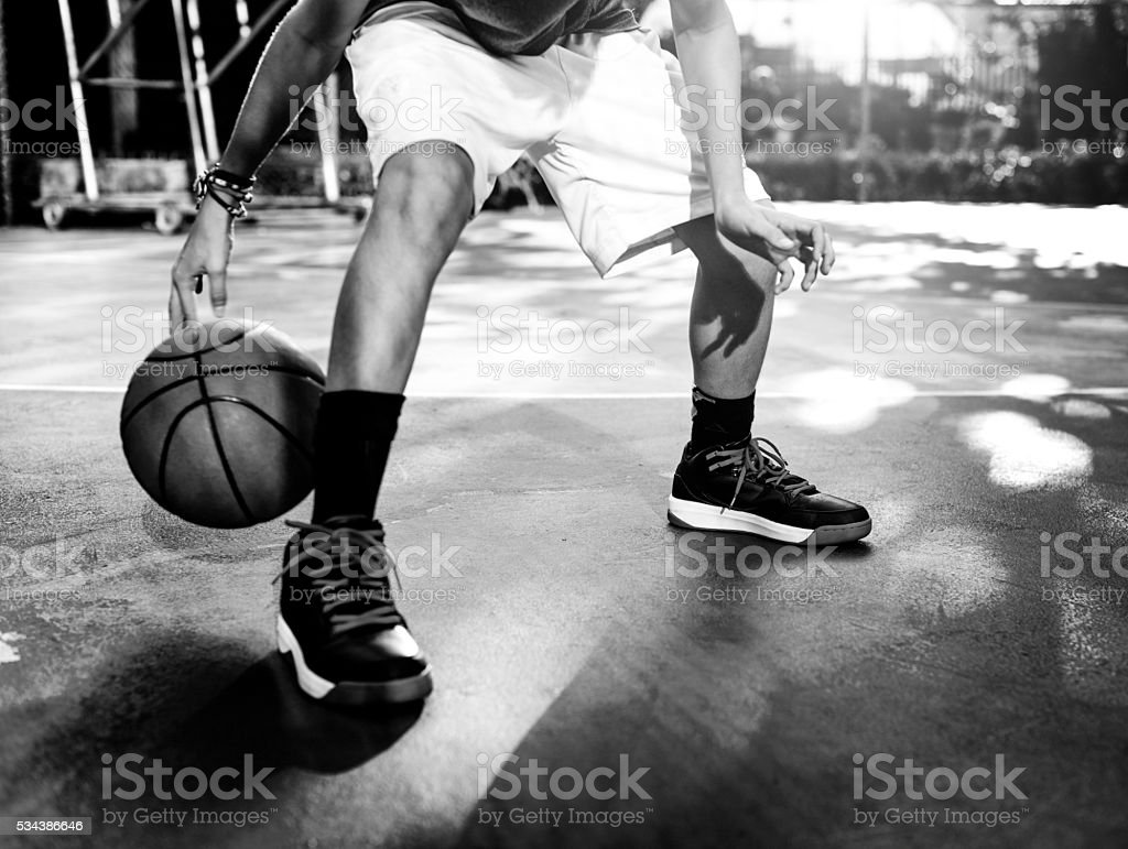 Basketball Player Sport Gaming Tactics Concept stock photo