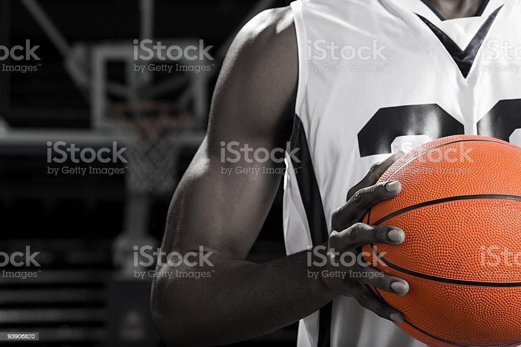 Basketball player with basketball stock photo
