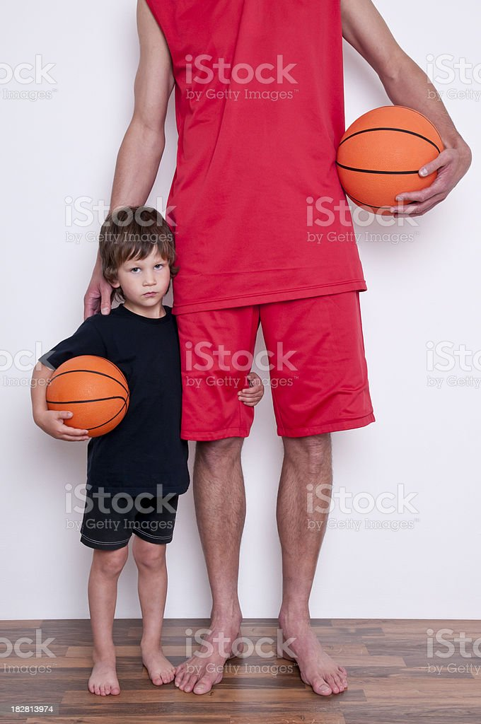 basketball player with young fan royalty-free stock photo