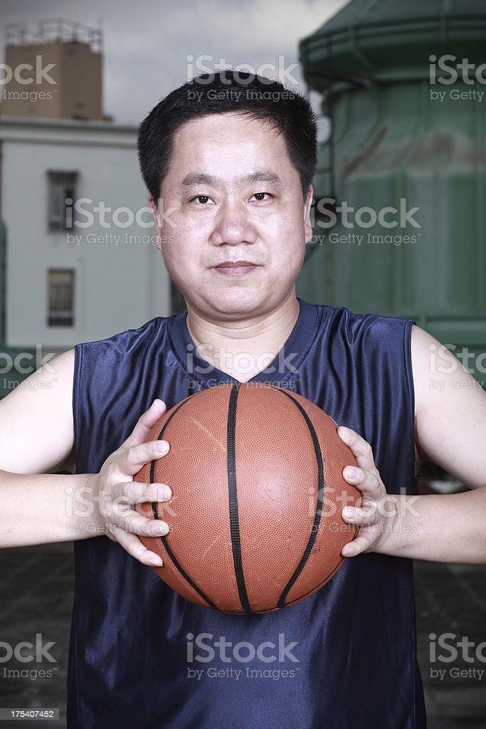 Basketball players royalty-free stock photo