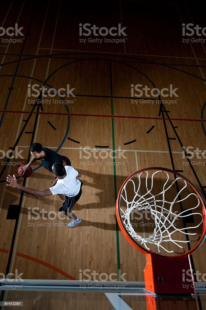 Basketball players stock photo