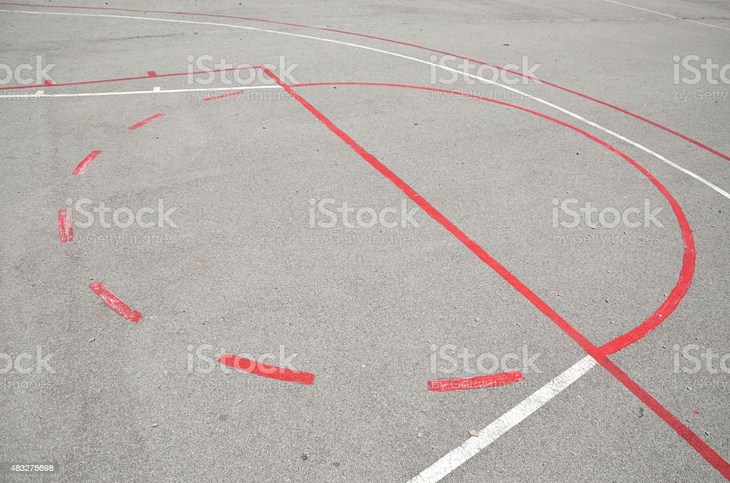 Basketball playground stock photo