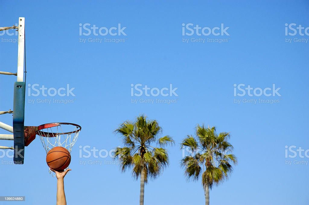 Basketball Rebound stock photo