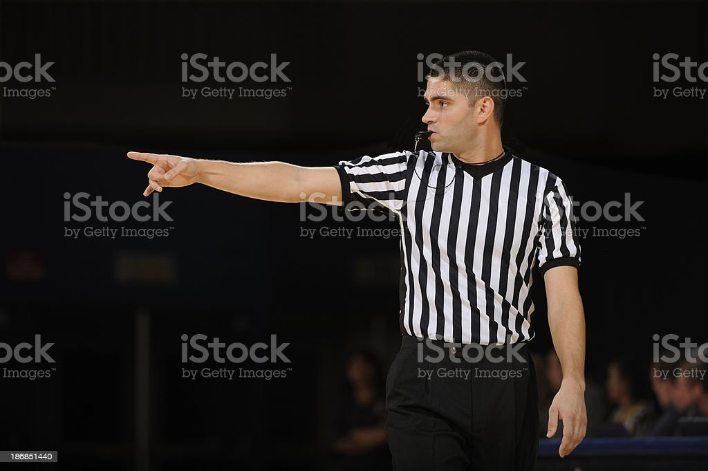 Basketball Referee stock photo