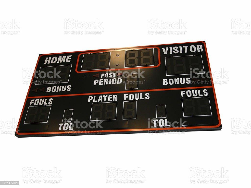 Basketball Scoreboard Isolated royalty-free stock photo