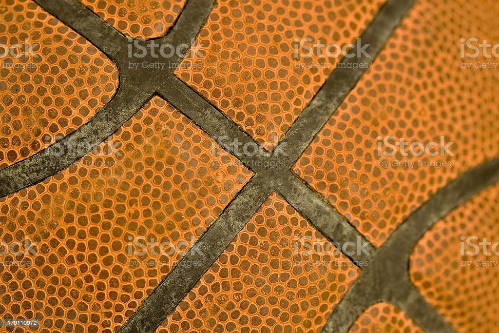Basketball Seams royalty-free stock photo