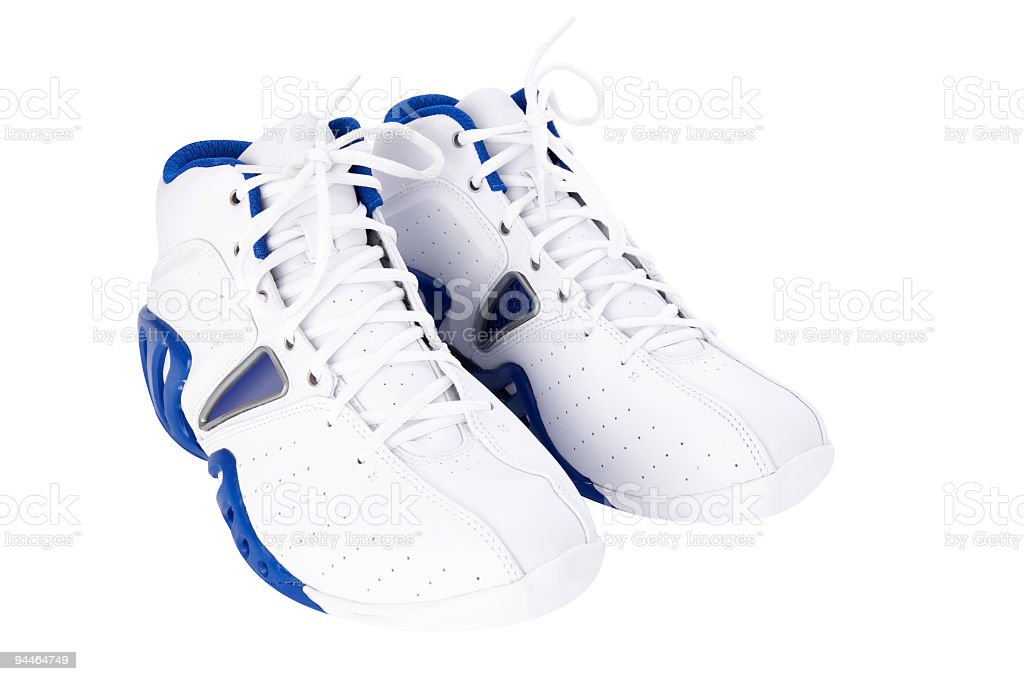 basketball shoes + clipping path stock photo