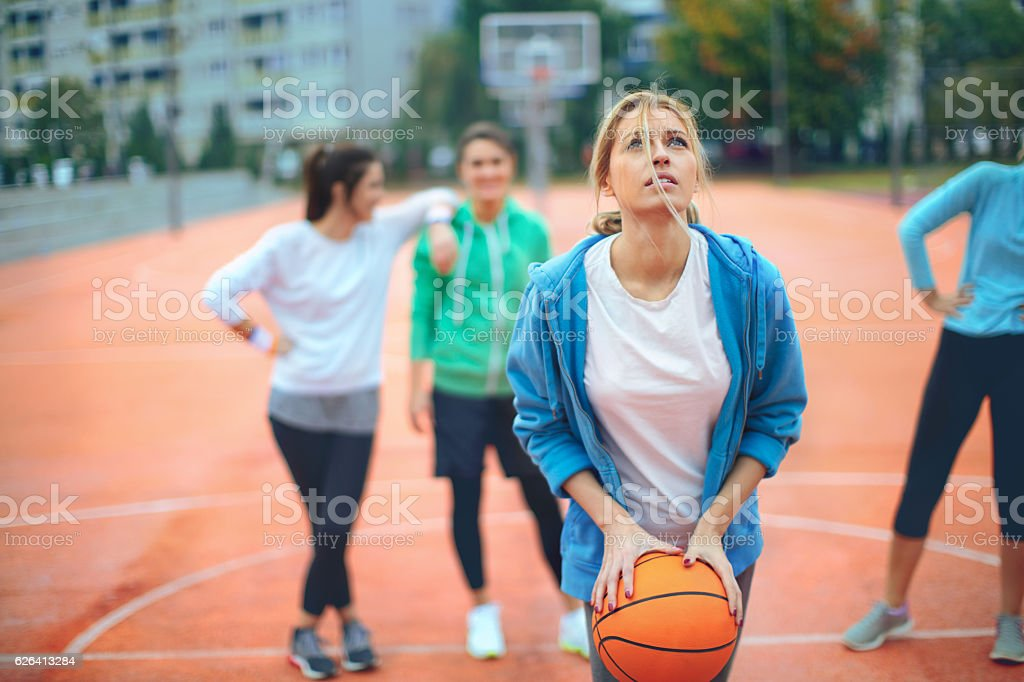 Basketball shooting stock photo