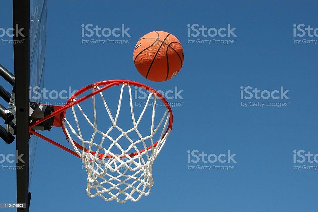 Basketball Shot on Basket stock photo