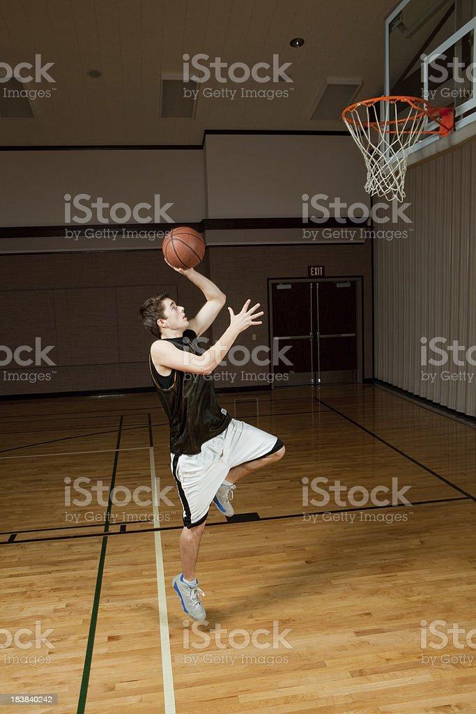 Basketball shot stock photo
