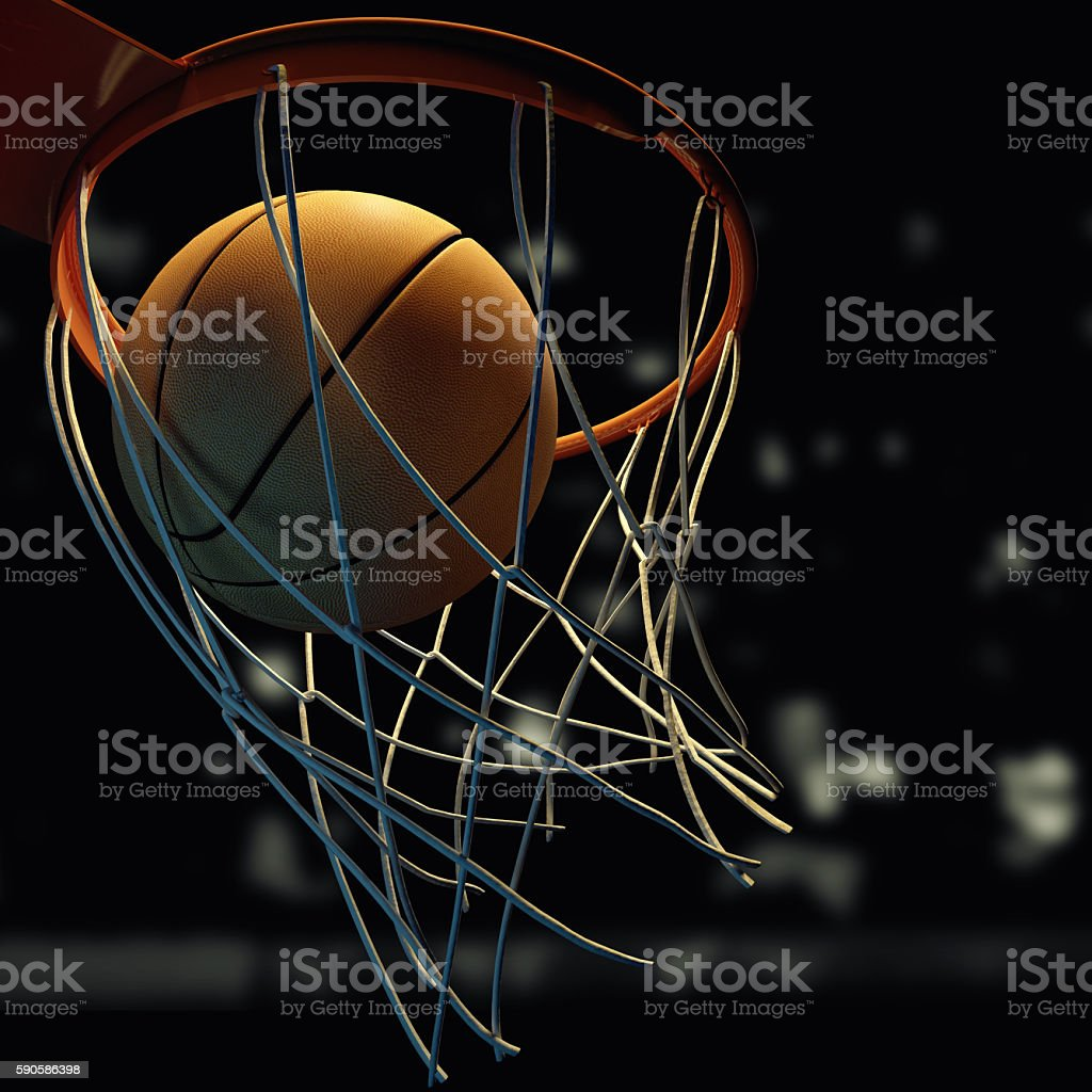 basketball shot stock photo