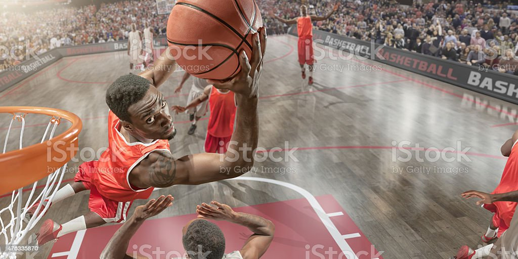 Basketball Slam Dunk stock photo