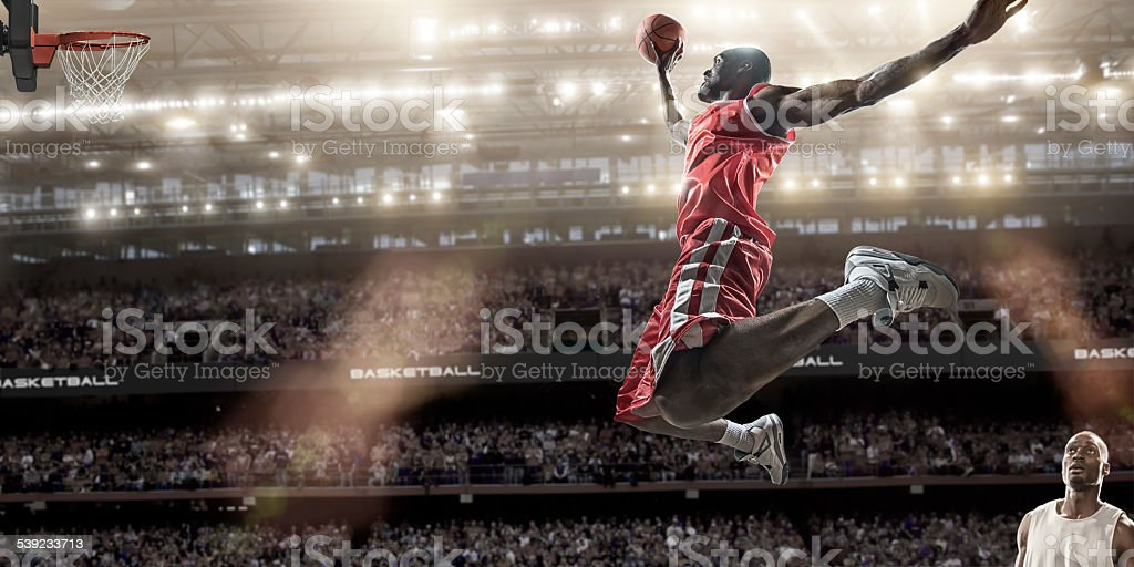 Basketball Slam Dunk stock photo