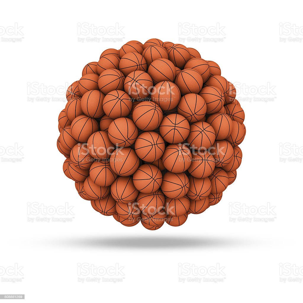Basketball sphere stock photo