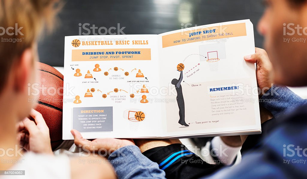 Basketball Sports Training Coaching Learning Concept stock photo
