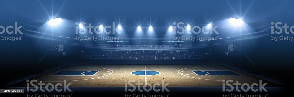 Basketball stadium stock photo