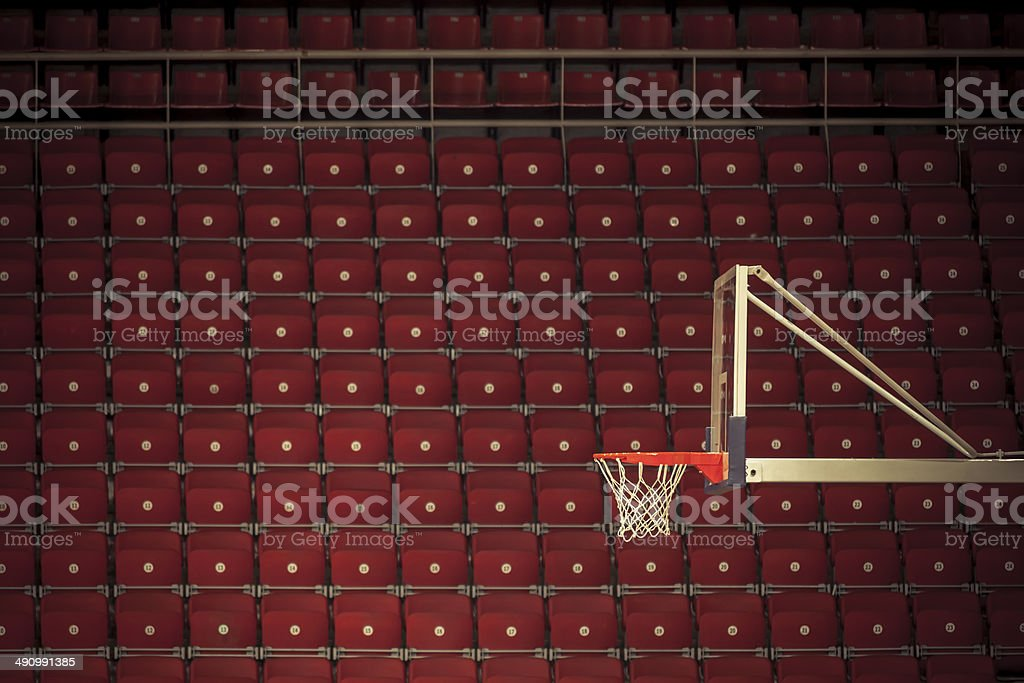 Basketball stadium stock photo